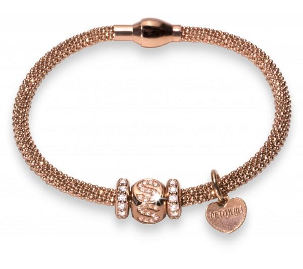 Bracciale argento rosè - S