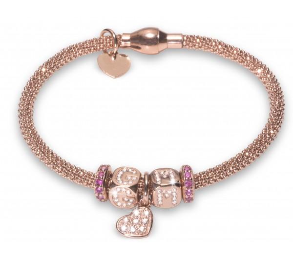 Bracciale argento rosè - G M