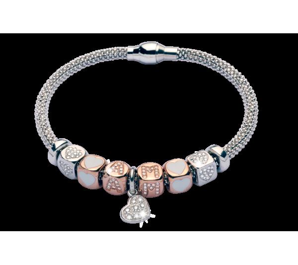 Bracciale in argento - A + M