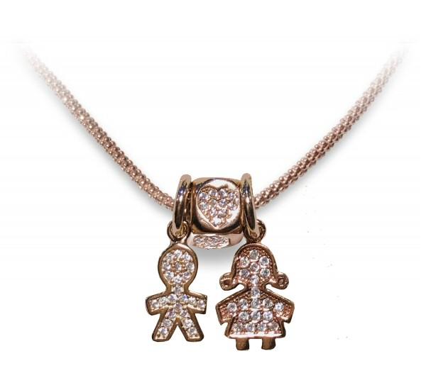Collana argento rosè - FAMILY