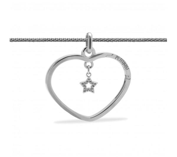 Collana lunga argento con ciondolo argento e stella argento