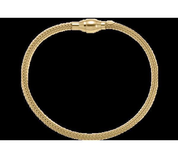 bracciale argento dorato