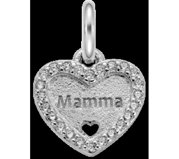 Cuore mamma argento