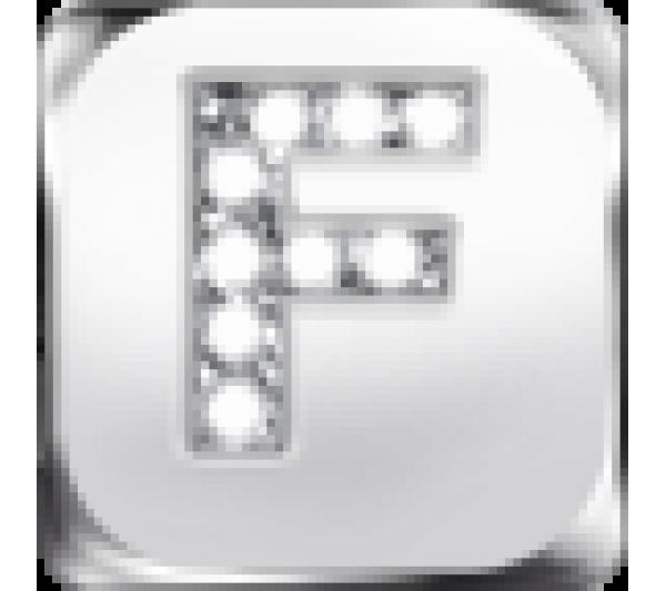Lettera F argento