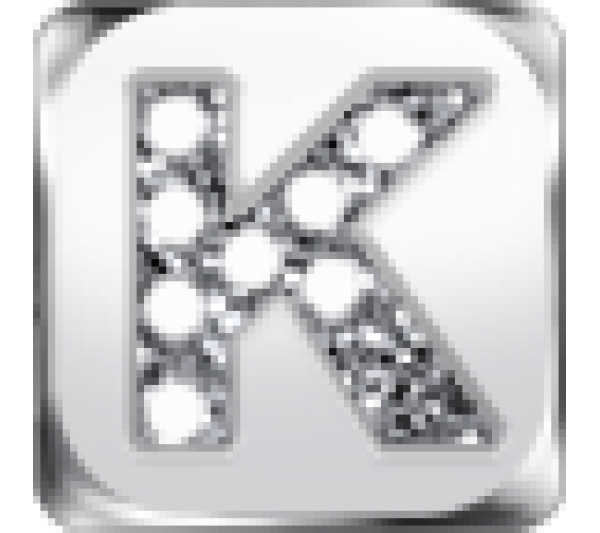 Lettera K argento