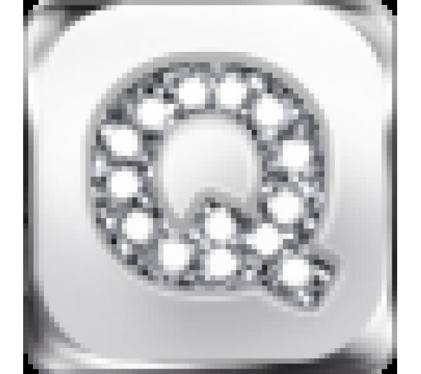 Lettera Q argento