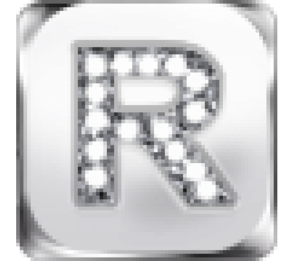 Lettera R argento