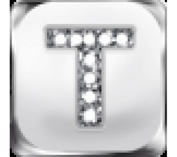 Lettera T argento