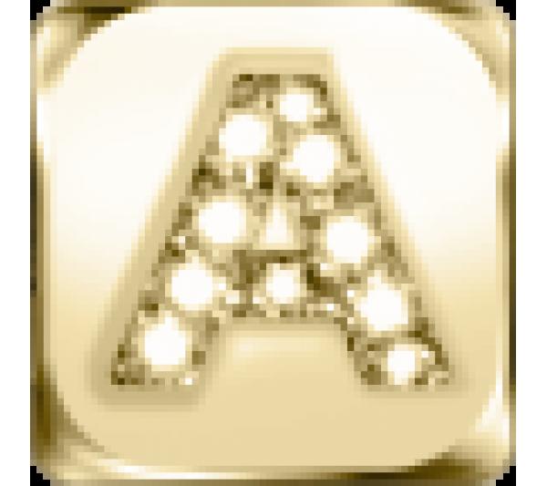 Lettera A - argento dorato