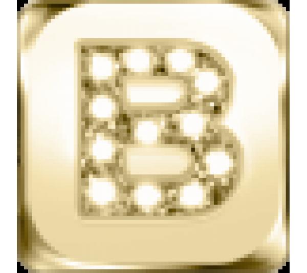 Lettera B - argento dorato