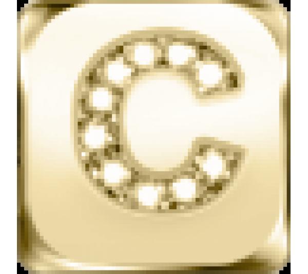 Lettera C - argento dorato