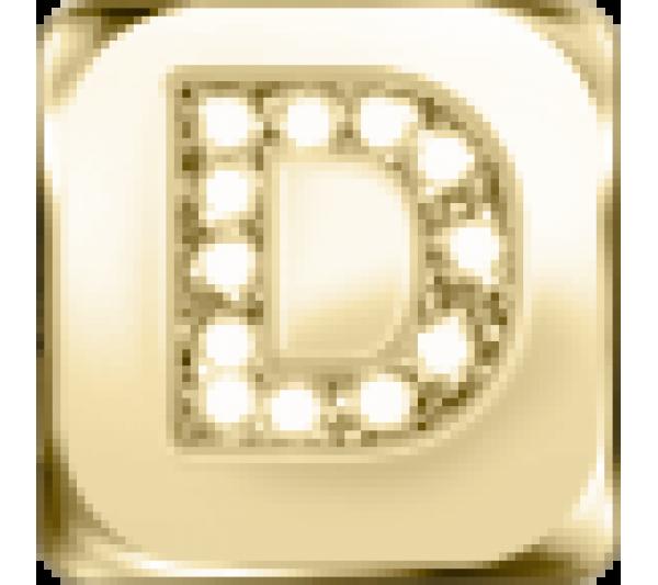 Lettera D - argento dorato