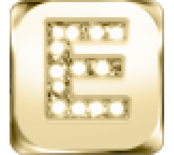 Lettera E - argento dorato