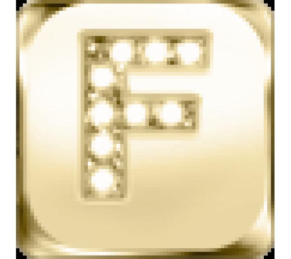 Lettera F - argento dorato