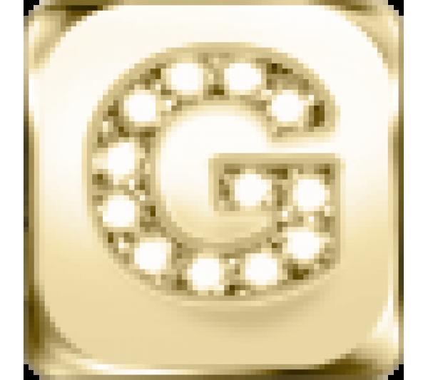 Lettera G - argento dorato
