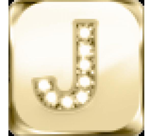 Lettera J - argento dorato