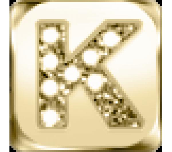 Lettera K  - argento dorato