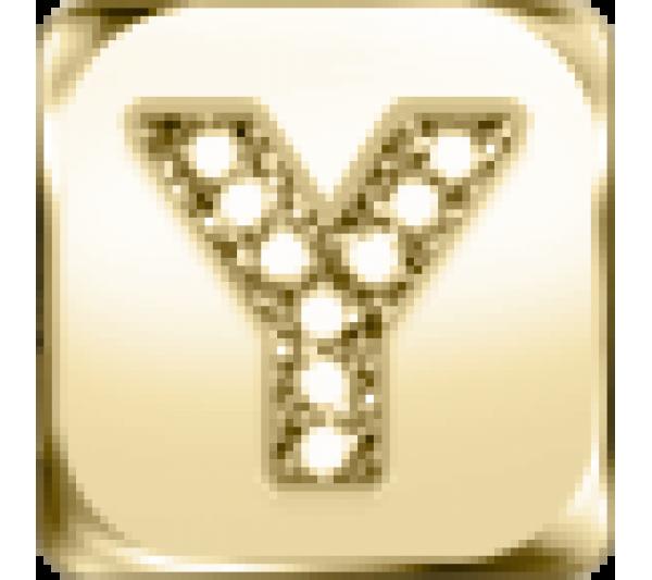 Lettera Y  - argento dorato