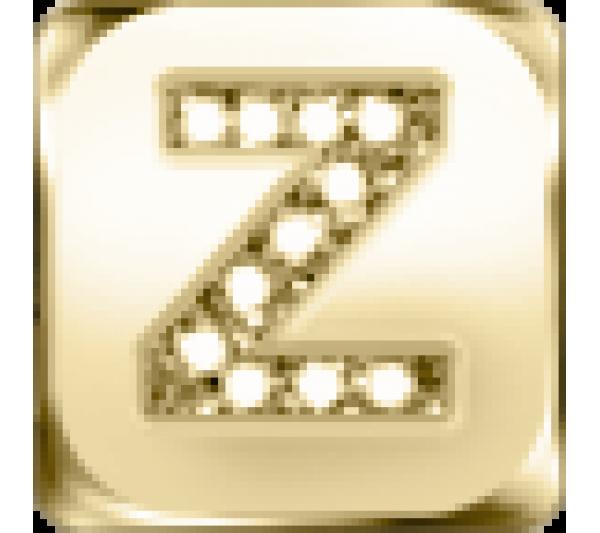 Lettera Z  - argento dorato