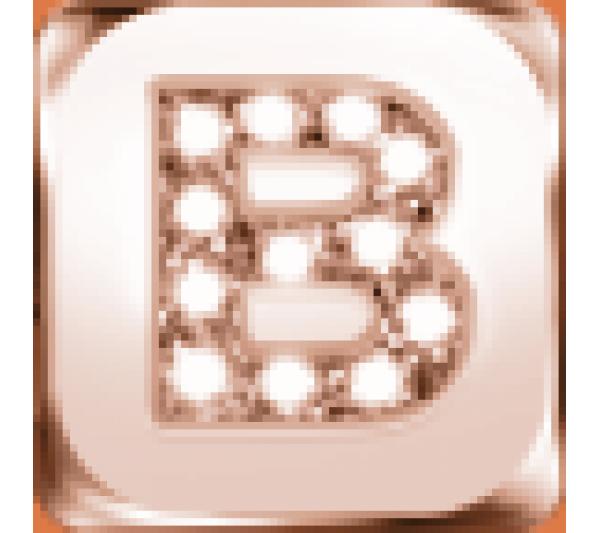Lettera B  argento rosè