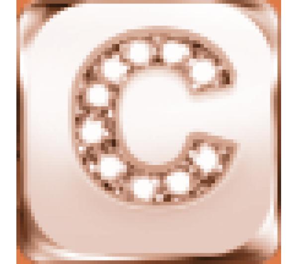 Lettera C  argento rosè