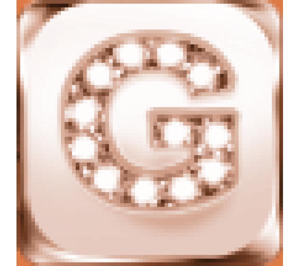 Lettera G  argento rosè
