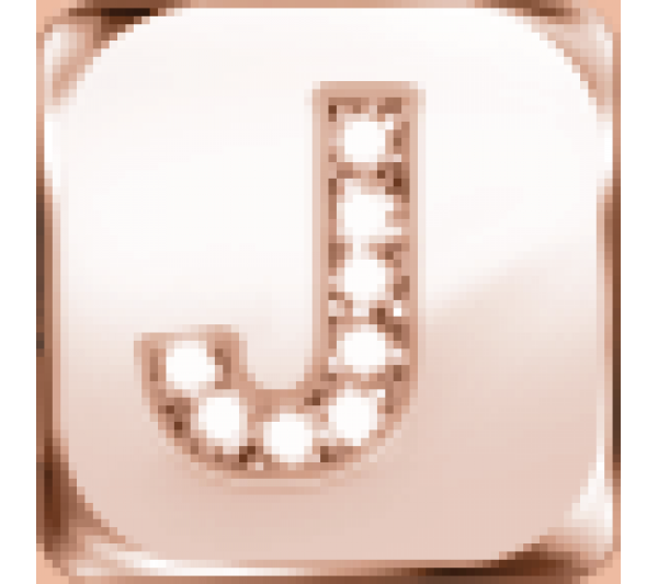 Lettera J  argento rosè