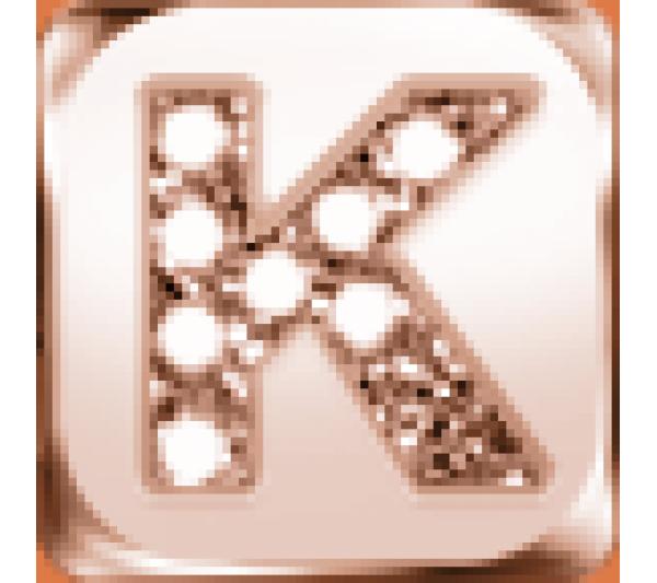 Lettera K  argento rosè