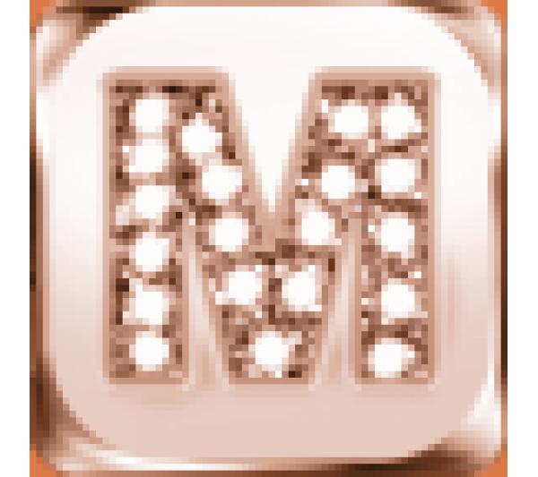Lettera M  argento rosè