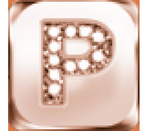 Lettera P  argento rosè