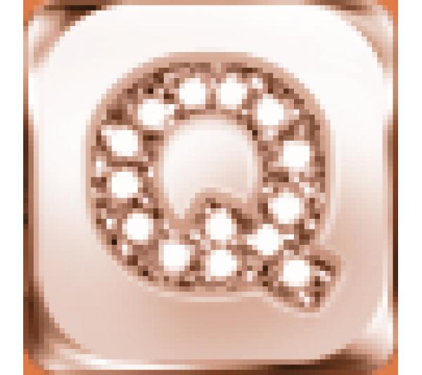 Lettera Q  argento rosè