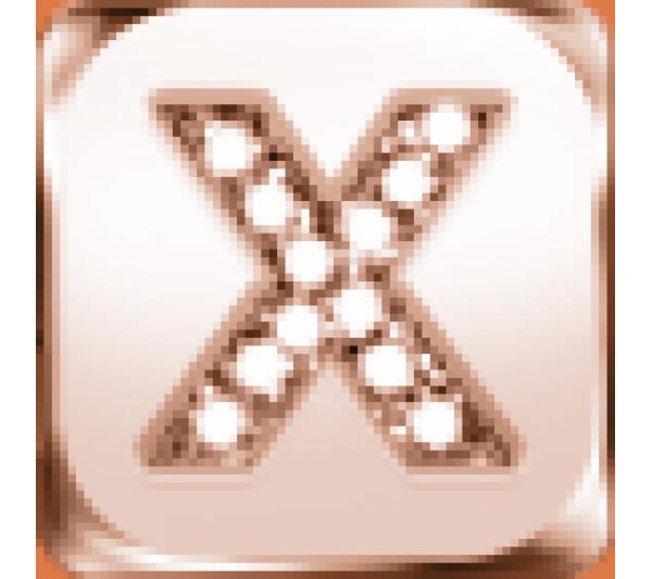 Lettera X  argento rosè