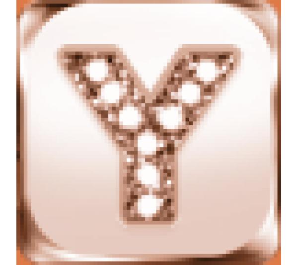 Lettera Y  argento rosè