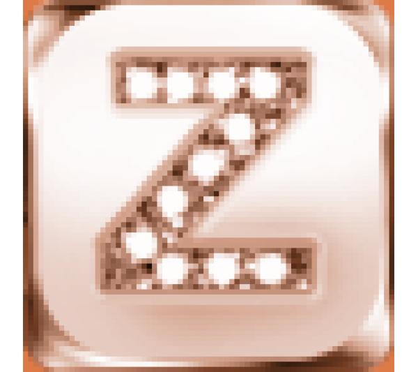 Lettera Z  argento rosè