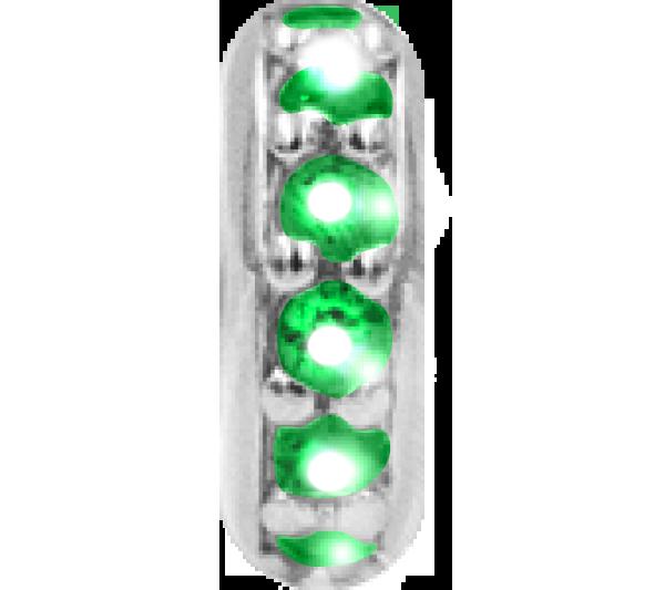Rondella Argento zirconi verdi