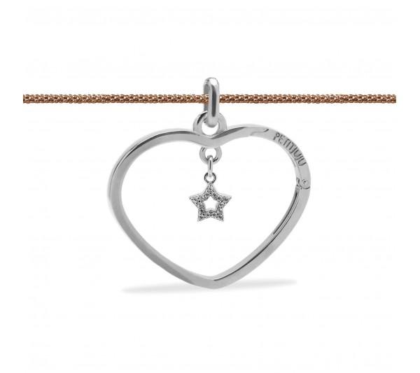 Girocollo rosè con ciondolo argento e stella argento