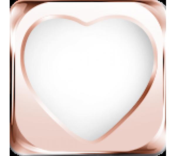 Cuore bianco  argento rosè