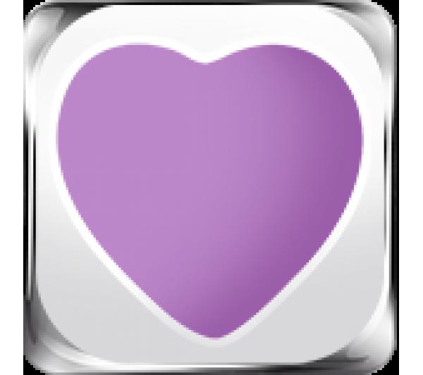 Cuore viola argento