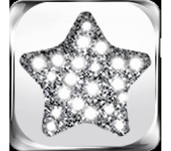 Simbolo stella argento