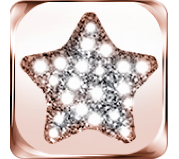 Simbolo stella argento rosè