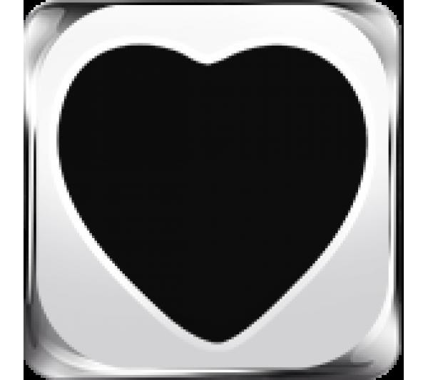 SIMBOLO cuore nero argento